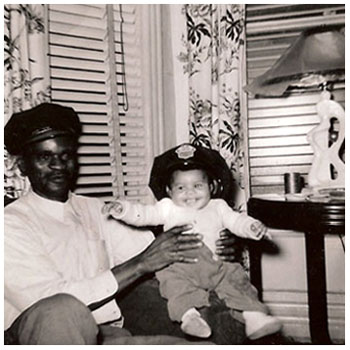 Deitra with her grandfather Daniel Ross